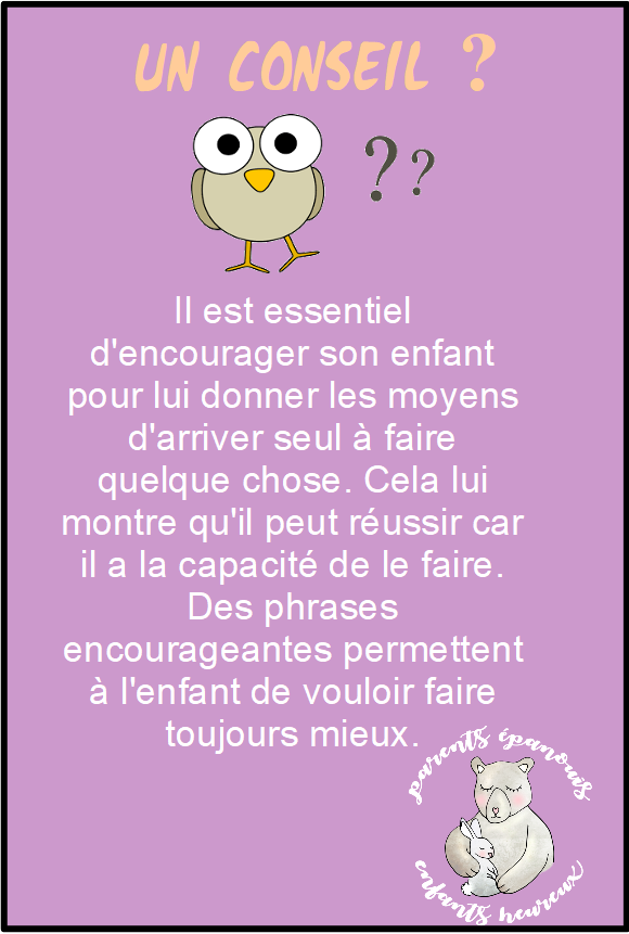 encourager son enfant